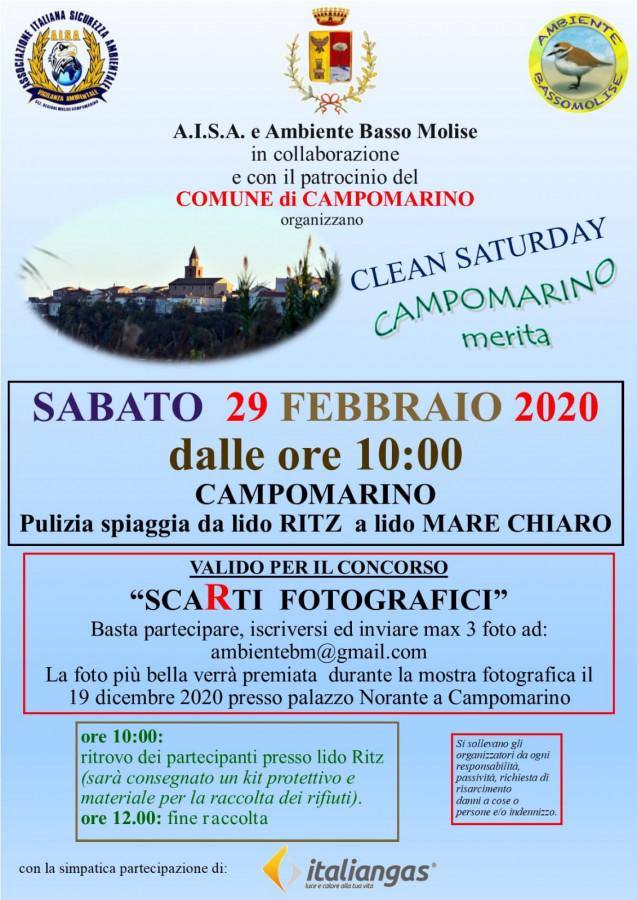 'Clean Saturday', sabato a Campomarino i volontari puliscono la spiaggia